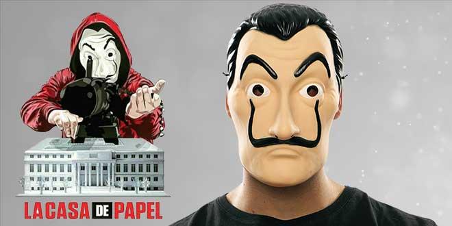 máscara de dali - la casa de papel