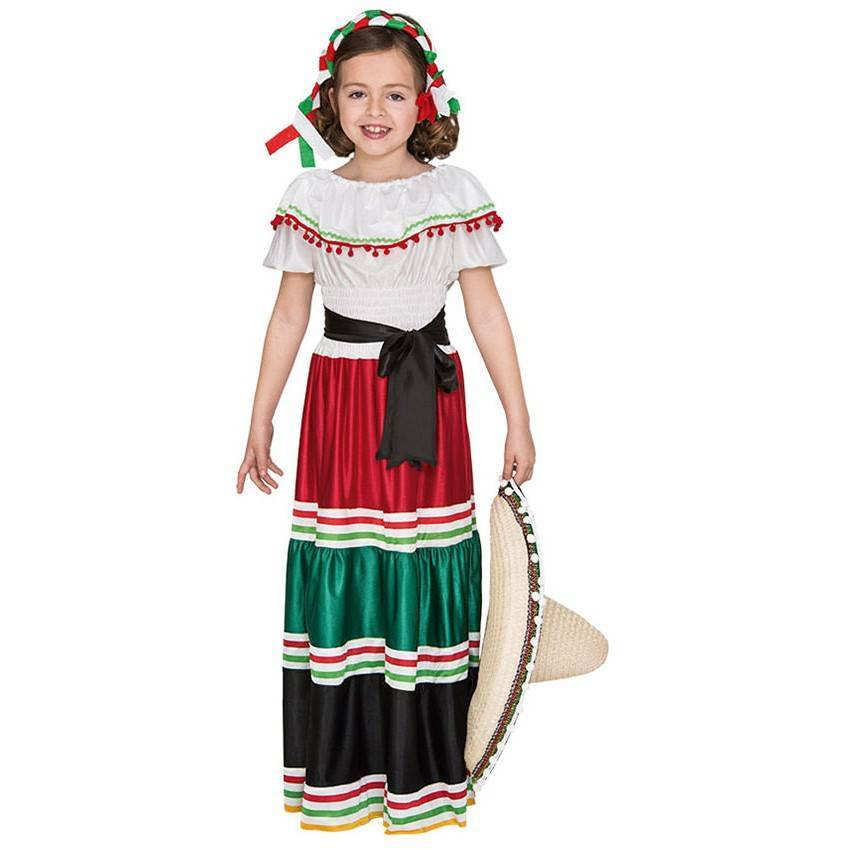 b6d190bf9c19e Comprar Fato Mexicana Menina de 7-9 anos 810 ACasaDoCarnaval.pt