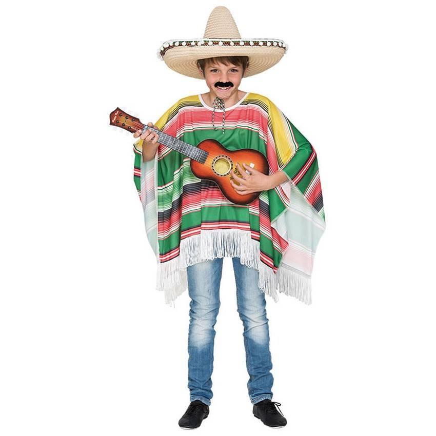 Comprar Fato Poncho Mexicano Criança 253 Disfarces ACasaDoCarnaval.pt 0bcdd2c1581