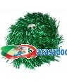 2 Pompons metalizado verde Acessórios para disfarces de Carnaval ou Halloween