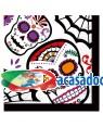 Guardanapo dia dos mortos 33x33cm. Acessórios para disfarces de Carnaval ou Halloween