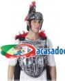 Armadura Frente Prateado com Capa e Boa Loja de Fatos Carnaval, Disfarces, Artigos para Festas, Acessórios de Carnaval, Mascaras, Perucas 459 acasadocarnaval.pt