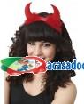 Bandolete com Chifres Vermelho com Marabu Loja de Fatos Carnaval, Disfarces, Artigos para Festas, Acessórios de Carnaval Mascaras Perucas 349 acasadocarnaval.pt