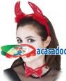 Bandolete Diabinha com Laço e Cauda (3 Unidades), Loja de Fatos Carnaval, Disfarces, Artigos para Festas, Acessórios de Carnaval Mascaras 460 acasadocarnaval.pt