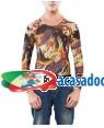 Camisa Simulando um Tatuagem, Loja de Fatos Carnaval, Disfarces, Artigos para Festas, Acessórios de Carnaval, Mascaras, Perucas 155 acasadocarnaval.pt
