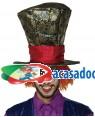 Chapéu Chapeleiro Louco com Peruca, Loja de Fatos Carnaval, Disfarces, Artigos para Festas, Acessórios de Carnaval, Mascaras, Perucas 131 acasadocarnaval.pt