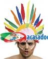 Chapéu Penas Indio (2 Unidades), Loja de Fatos Carnaval, Disfarces, Artigos para Festas, Acessórios de Carnaval, Mascaras, Perucas 816 acasadocarnaval.pt