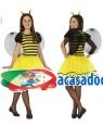 Fato Abelha Menina de 7-9 anos, Loja de Fatos Carnaval, Disfarces, Artigos para Festas, Acessórios de Carnaval, Mascaras, Perucas 909 acasadocarnaval.pt