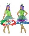 Fato Alien Verde Menina de 10-12 anos, Loja de Fatos Carnaval, Disfarces, Artigos para Festas, Acessórios de Carnaval, Mascaras, Perucas 919 acasadocarnaval.pt