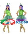 Fato Alien Verde Menina de 5-6 anos, Loja de Fatos Carnaval, Disfarces, Artigos para Festas, Acessórios de Carnaval, Mascaras, Perucas 960 acasadocarnaval.pt