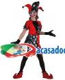 Fato Arlequim Halloween Menina 70601, Loja de Fatos Carnaval acasadocarnaval.pt, Disfarces, Acessórios de Carnaval, Mascaras, Perucas, Chapeus