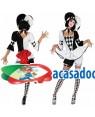 Fato Arlequim Pierrot Sexy, Loja de Fatos Carnaval, Disfarces, Artigos para Festas, Acessórios de Carnaval, Mascaras, Perucas, Chapeus 518 acasadocarnaval.pt