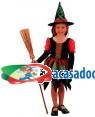 Fato Bruxa Multicor Criança, Loja de Fatos Carnaval, Disfarces, Artigos para Festas, Acessórios de Carnaval, Mascaras, Perucas 604 acasadocarnaval.pt