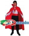 Fato Capa Vampiro Vermelho Adulto Halloween Loja de Fatos Carnaval, Disfarces Artigos para Festas Acessórios de Carnaval Mascaras Perucas 962 acasadocarnaval.pt