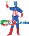 Fato Capitão América Azul Adulto, Loja de Fatos Carnaval, Disfarces, Artigos para Festas, Acessórios de Carnaval, Mascaras, Perucas 621 acasadocarnaval.pt