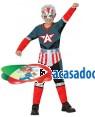 Fato Capitão América Menino, Loja de Fatos Carnaval, Disfarces, Artigos para Festas, Acessórios de Carnaval, Mascaras, Perucas 621 acasadocarnaval.pt
