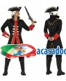 Fato Capitão Pirata Preto Adulto, Loja de Fatos Carnaval, Disfarces, Artigos para Festas, Acessórios de Carnaval, Mascaras, Perucas 121 acasadocarnaval.pt