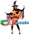 Fato de Abóbora Bruxa Adulto para Carnaval