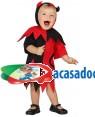 Fato Diabinha Vermelho Preto Bebé para Carnaval