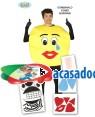 Fato Emoji Emoticon para Homem, Loja de Fatos Carnaval, Disfarces, Artigos para Festas, Acessórios de Carnaval, Mascaras, Perucas, Chapeus 981 acasadocarnaval.pt