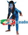 Fato Guerreiro-Avatar Menino 70604, Loja de Fatos Carnaval acasadocarnaval.pt, Disfarces, Acessórios de Carnaval, Mascaras, Perucas, Chapeus e Fantasias