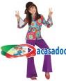 Fato Hippie Lilás Menina, Loja de Fatos Carnaval, Disfarces, Artigos para Festas, Acessórios de Carnaval, Mascaras, Perucas, Chapeus 276 acasadocarnaval.pt