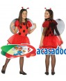 Fato Joaninha Menina de 7-9 anos, Loja de Fatos Carnaval, Disfarces, Artigos para Festas, Acessórios de Carnaval, Mascaras, Perucas 160 acasadocarnaval.pt