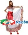 Fato Mexicana Colorida Adulto, Loja de Fatos Carnaval, Disfarces, Artigos para Festas, Acessórios de Carnaval, Mascaras, Perucas 379 acasadocarnaval.pt