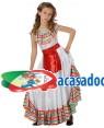 Fato Mexicana Colorida Menina, Loja de Fatos Carnaval, Disfarces, Artigos para Festas, Acessórios de Carnaval, Mascaras, Perucas 301 acasadocarnaval.pt