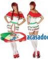 Fato Mexicana Curta Adulto XS/S, Loja de Fatos Carnaval, Disfarces, Artigos para Festas, Acessórios de Carnaval, Mascaras, Perucas 664 acasadocarnaval.pt