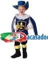 Fato Mosqueteiro Azul Menino 70607, Loja de Fatos Carnaval acasadocarnaval.pt, Disfarces, Acessórios de Carnaval, Mascaras, Perucas, Chapeus e Fantasias