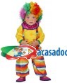 Fato Palhaço Arco-íris Bebé, Loja de Fatos Carnaval, Disfarces, Artigos para Festas, Acessórios de Carnaval, Mascaras, Perucas 871 acasadocarnaval.pt