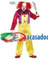 Fato Payaso Asesino Adulto, Loja de Fatos Carnaval, Disfarces, Artigos para Festas, Acessórios de Carnaval, Mascaras, Perucas, Chapeus 436 acasadocarnaval.pt