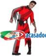 Fato Piloto Vermelho Zombie Adulto, Loja de Fatos Carnaval, Disfarces, Artigos para Festas, Acessórios de Carnaval, Mascaras, Perucas 386 acasadocarnaval.pt