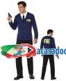 Fato Polícia FBI Homem Adulto XL, Loja de Fatos Carnaval, Disfarces, Artigos para Festas, Acessórios de Carnaval, Mascaras, Perucas 557 acasadocarnaval.pt