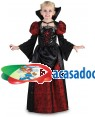 Fato Vampira Halloween Menina 70609, Loja de Fatos Carnaval acasadocarnaval.pt, Disfarces, Acessórios de Carnaval, Mascaras, Perucas, Chapeus