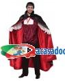 Fato Vampiro Conde Dracula Adulto, Loja de Fatos Carnaval, Disfarces, Artigos para Festas, Acessórios de Carnaval, Mascaras, Perucas 983 acasadocarnaval.pt