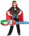 Fato Vampiro Elegante de 5-6 anos, Loja de Fatos Carnaval, Disfarces, Artigos para Festas, Acessórios de Carnaval, Mascaras, Perucas 496 acasadocarnaval.pt