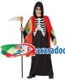 Fato Zombie Esqueleto Menino para Carnaval