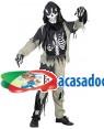 Fato Zombie Esqueleto Menino 70601, Loja de Fatos Carnaval acasadocarnaval.pt, Disfarces, Acessórios de Carnaval, Mascaras, Perucas, Chapeus e Fantasias