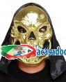 Máscara Crânio Ouro com Capuz (3 Unidades) Loja de Fatos Carnaval, Disfarces, Artigos para Festas Acessórios de Carnaval Mascaras Perucas 274 acasadocarnaval.pt