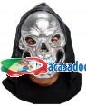 Máscara Crânio Prata com Capuz (3 Unidades) Loja de Fatos Carnaval, Disfarces Artigos para Festas Acessórios de Carnaval Mascaras Perucas 454 acasadocarnaval.pt