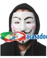 Máscara Vendetta V de Vingança (3 Unidades) Loja de Fatos Carnaval, Disfarces Artigos para Festas Acessórios de Carnaval Mascaras Perucas 928 acasadocarnaval.pt