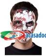 Máscara Zombie, Loja de Fatos Carnaval, Disfarces, Artigos para Festas, Acessórios de Carnaval, Mascaras, Perucas, Chapeus e Fantasias 195 acasadocarnaval.pt
