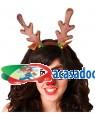 Mascarilha e Bandolete Rena, Loja de Fatos Carnaval, Disfarces, Artigos para Festas, Acessórios de Carnaval, Mascaras, Perucas 880 acasadocarnaval.pt