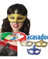 Mascarilha Plástico Veneza (3 Unidades) Loja de Fatos Carnaval, Disfarces, Artigos para Festas, Acessórios de Carnaval, Mascaras, Perucas 400 acasadocarnaval.pt