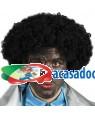 Peruca Afro Preta, Loja de Fatos Carnaval, Disfarces, Artigos para Festas, Acessórios de Carnaval, Mascaras, Perucas, Chapeus 711 acasadocarnaval.pt