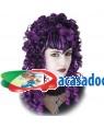 Peruca Caracóis Gótica Preta-Lila, Loja de Fatos Carnaval, Disfarces, Artigos para Festas, Acessórios de Carnaval, Mascaras, Perucas 687 acasadocarnaval.pt