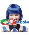 Peruca Curta Azul Neon, Loja de Fatos Carnaval, Disfarces, Artigos para Festas, Acessórios de Carnaval, Mascaras, Perucas, Chapeus 470 acasadocarnaval.pt