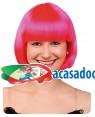 Peruca Curta Rosa Neon, Loja de Fatos Carnaval, Disfarces, Artigos para Festas, Acessórios de Carnaval, Mascaras, Perucas, Chapeus 919 acasadocarnaval.pt